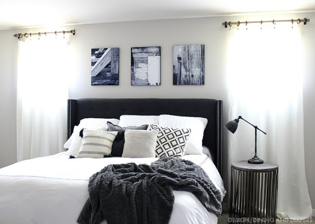 1-Black-and-White-Master-Bedroom-with-Rustic-Touches